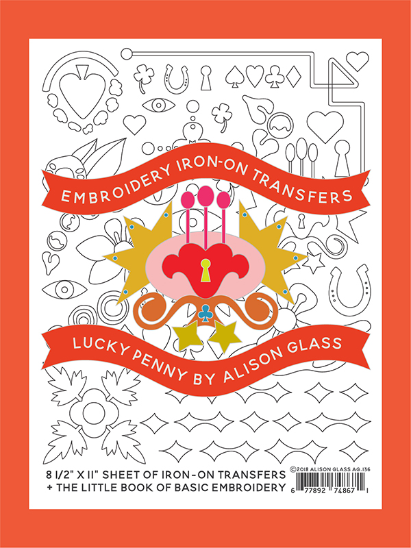 Embroidery Iron On/Lucky Penny