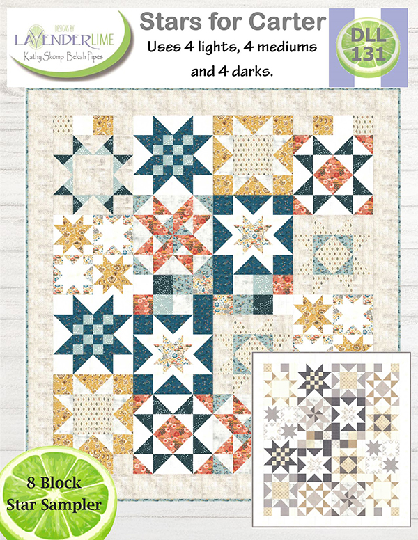 Stars For Carter Quilt Pattern - 74 1/2 x 82 1/2