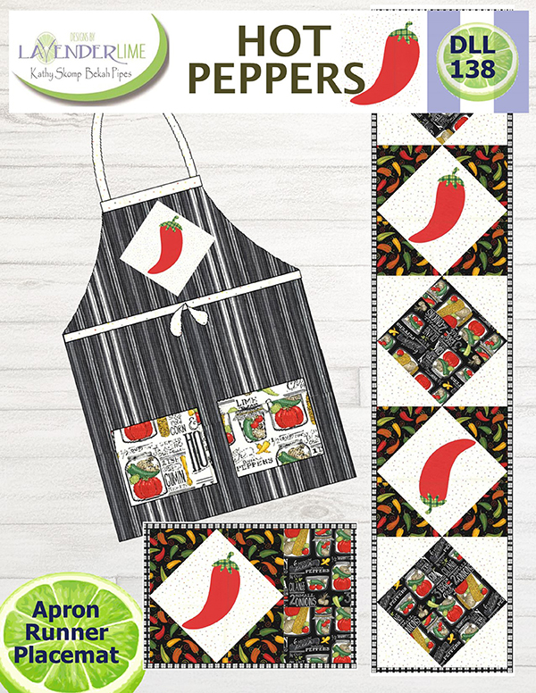 Hot Peppers Apron/Runner/Placemat Pattern