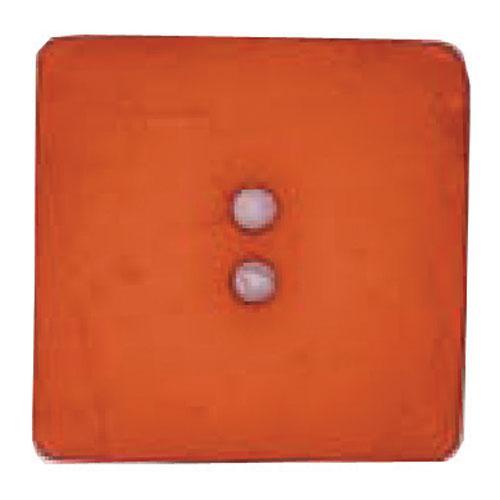 60 mm Square Button Dk Orange