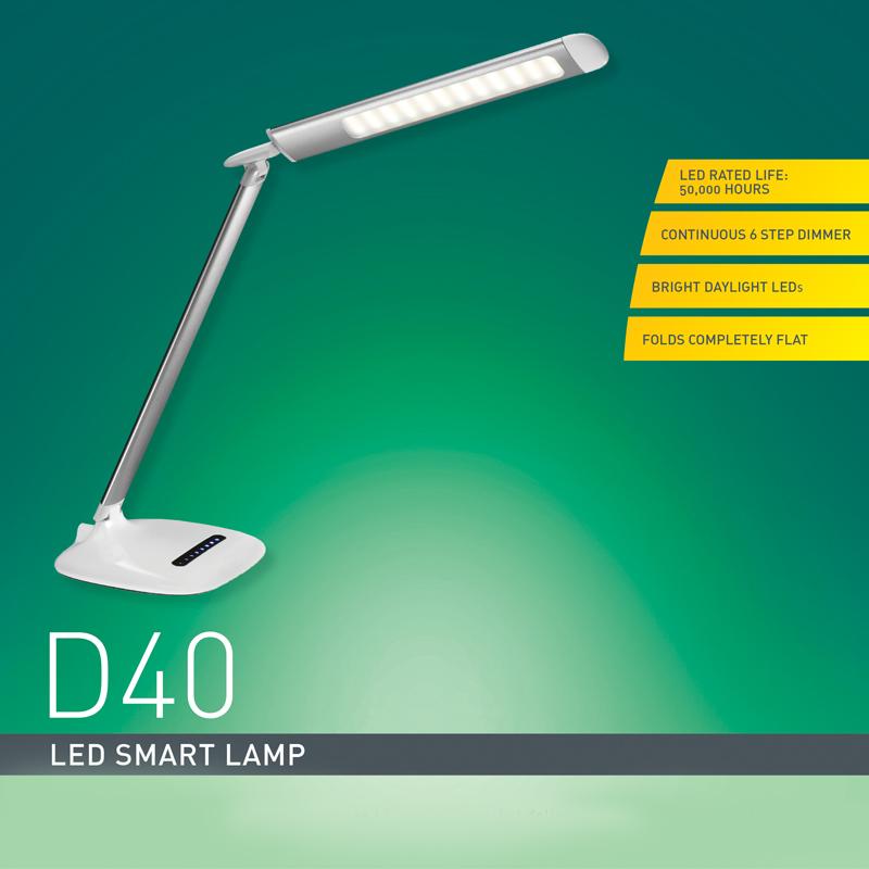 Smart Lamp D40 : Metallic Silver - Daylight