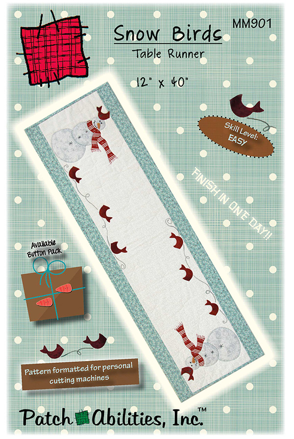 Snow Birds Table Runner  MM901
