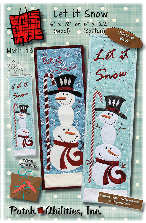 Let It Snow Pattern with Buttons