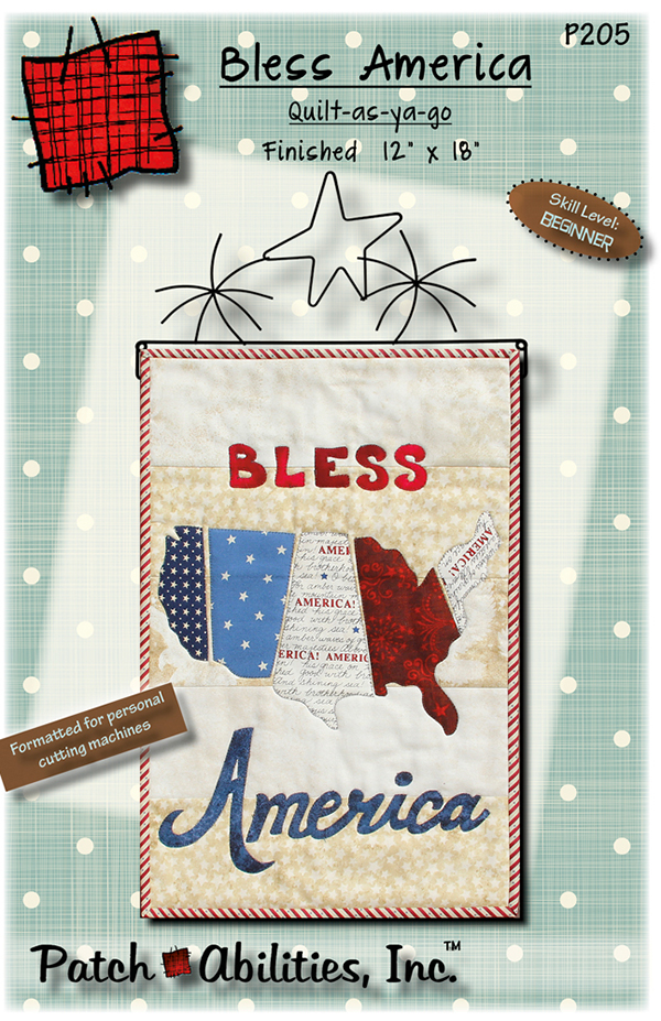 P205 Bless America Quilt As You Go Pattern