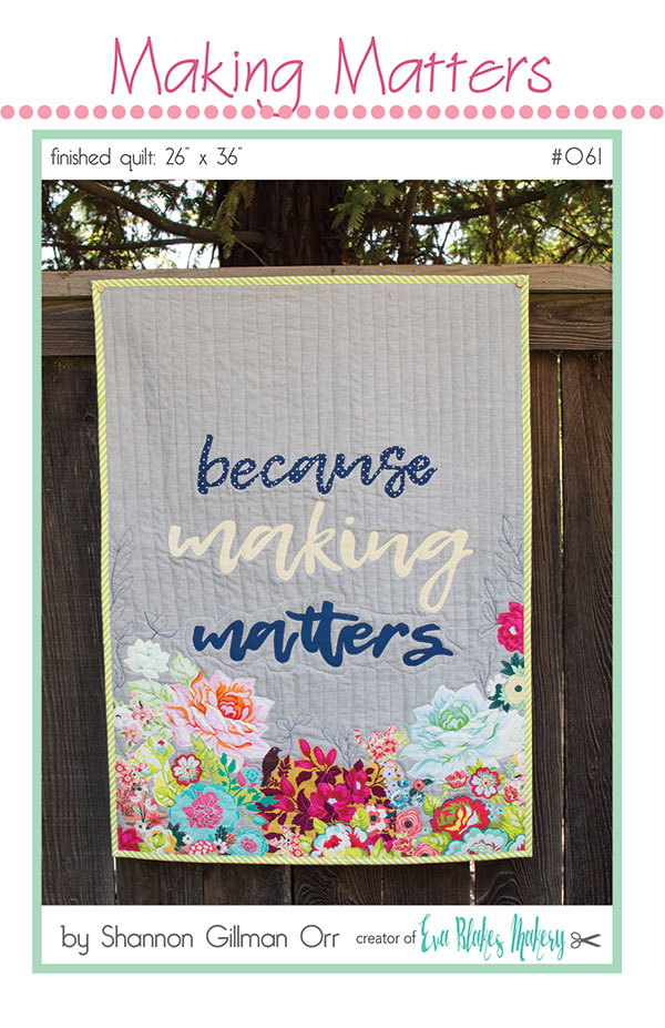 Making Matters Wall Quilt