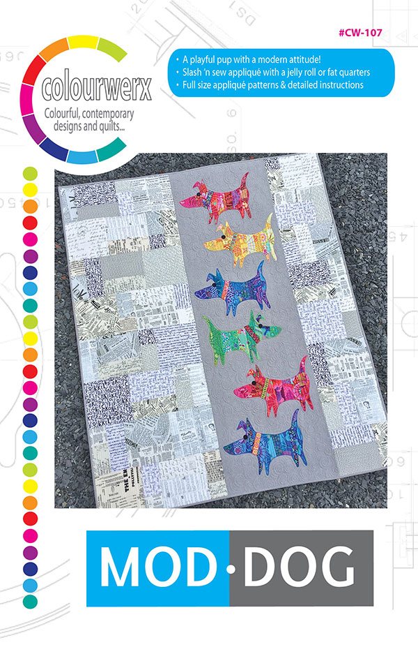 CW 107 Mod Dog Quilt Pattern for Colourwerx