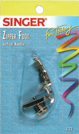 Singer Vertical Needle Zipper Foot