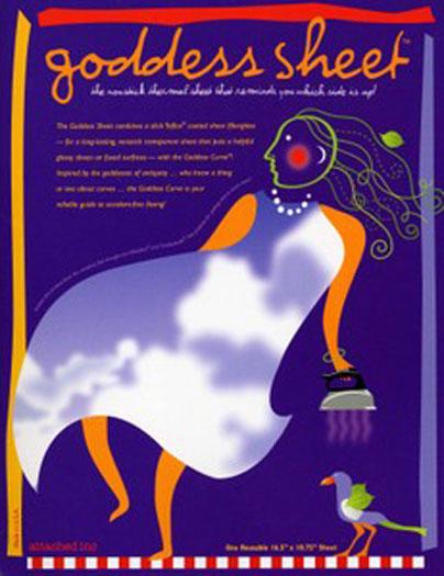 Goddess Pressing Sheet ~ 10-3/4 x 16-1/2