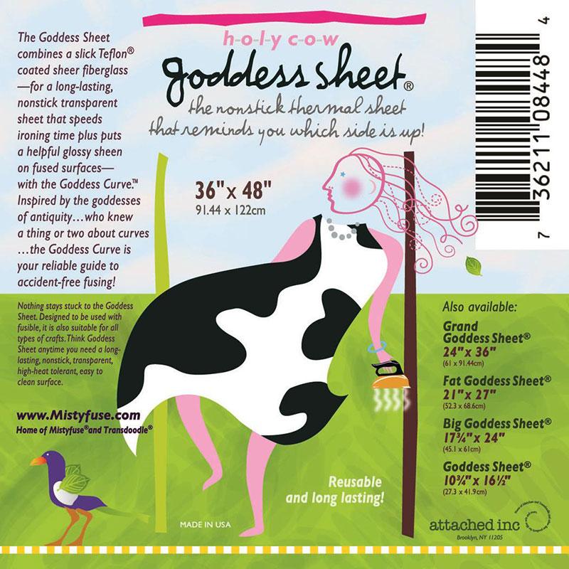 Goddess Holy Cow Sheet ~ 36x 48