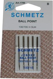 Schmetz Ball Point machine Needles 100/16, 5pk