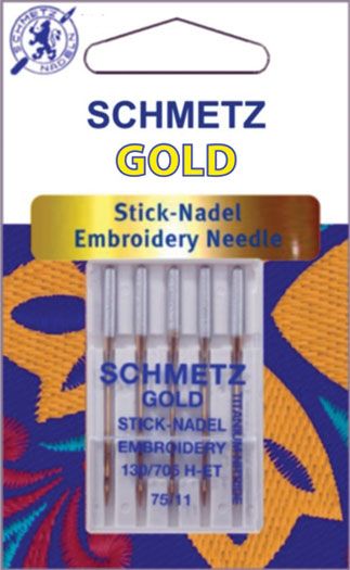 Schmetz Gold Emb Machine Needle 14/90