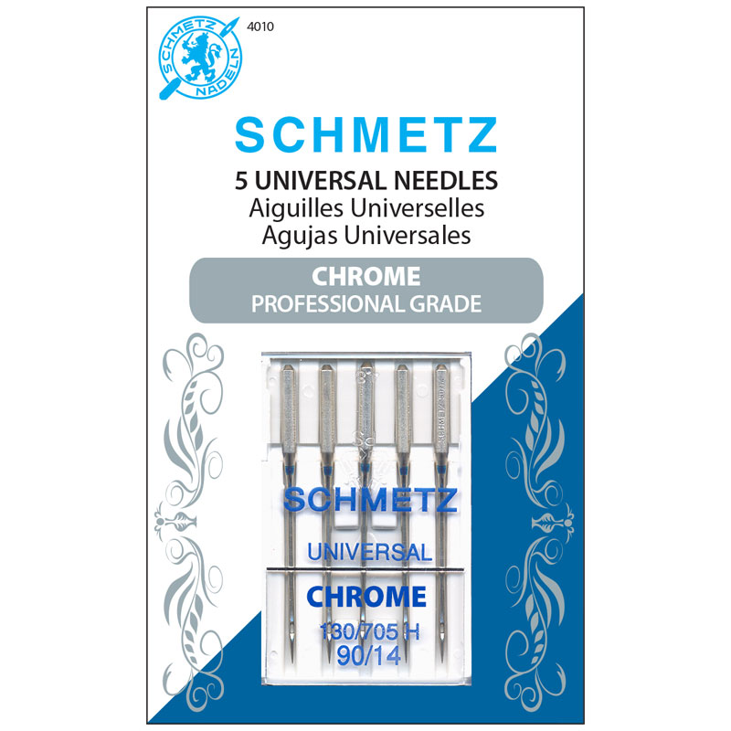 Schmetz Chrome Universal Machine Needles 90/14