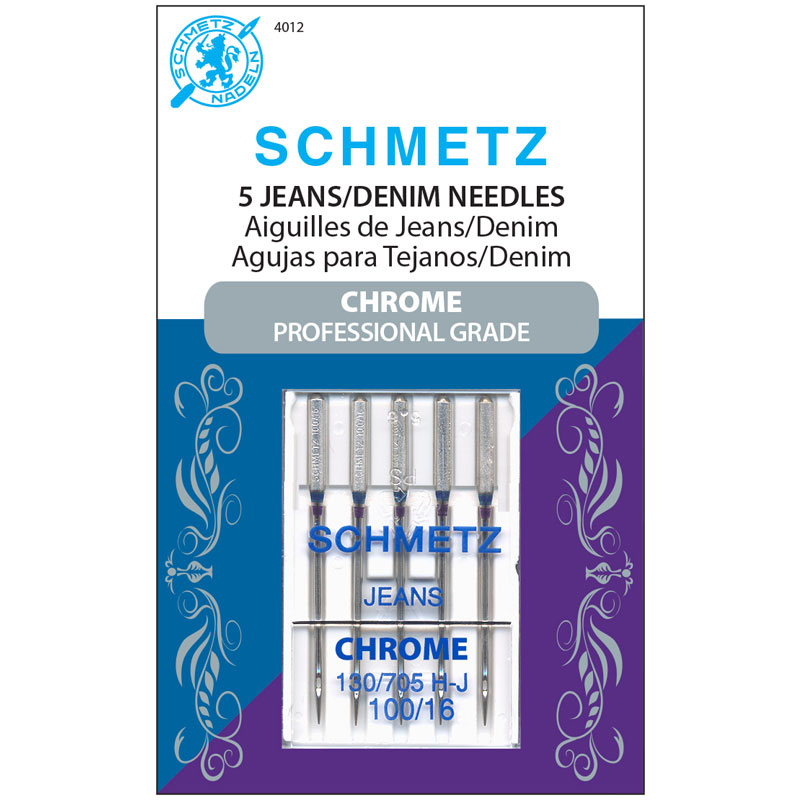 Schmetz Chrome Jeans/denim 100/16, 5pk