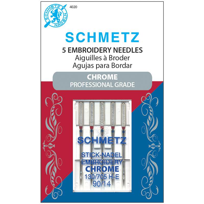 Schmetz Chrome 90/14 Embroidery Needle
