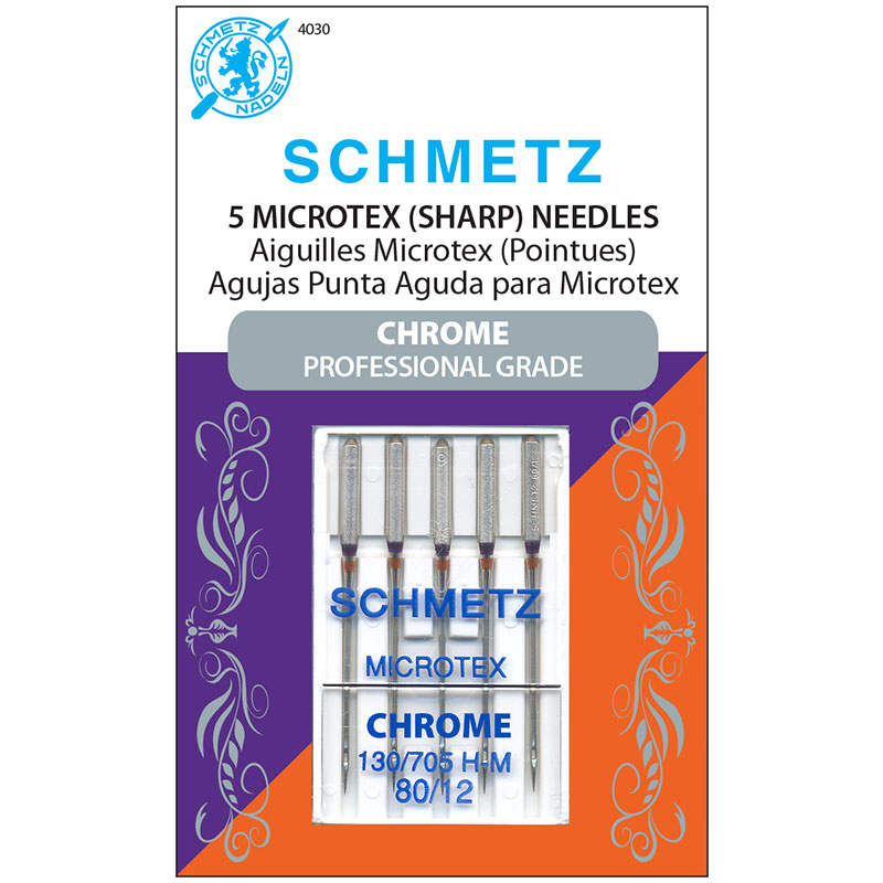 Schmetz Chrome Microtex Needles 80/12, 5pk