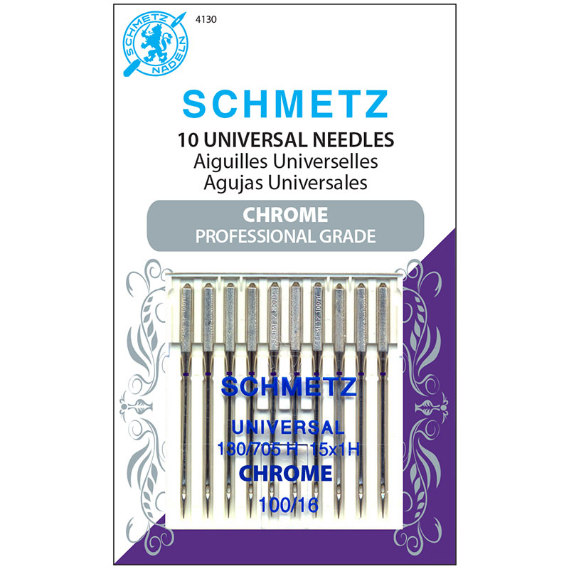 Schmetz Chrome Universal Needles 100/16 #4130