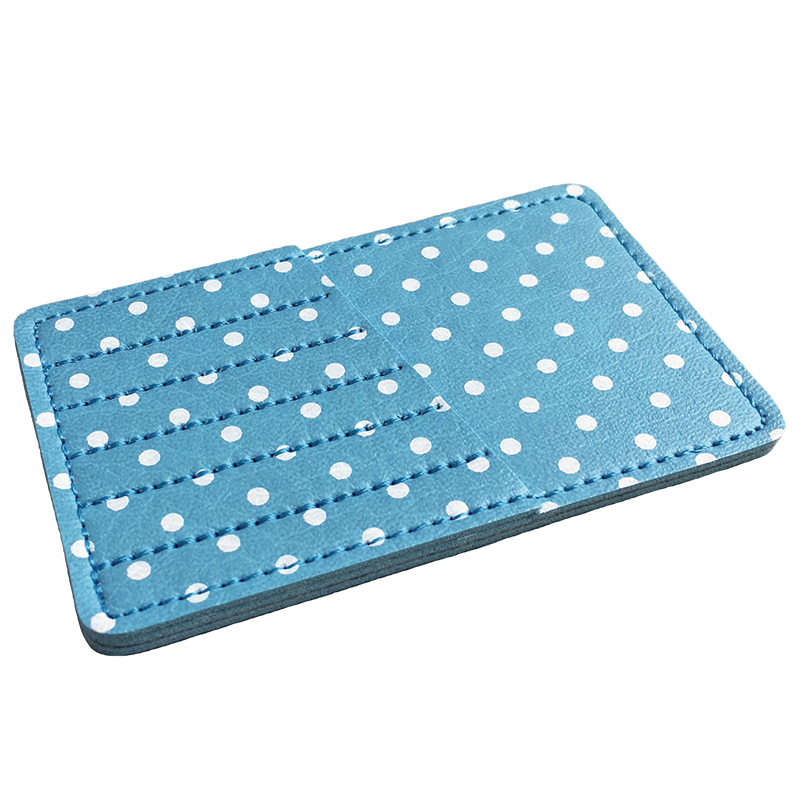 Polka Dot Needle Carrycard Aqua