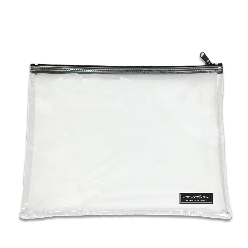 Clear Bag w/ Zipper 14 x 12
