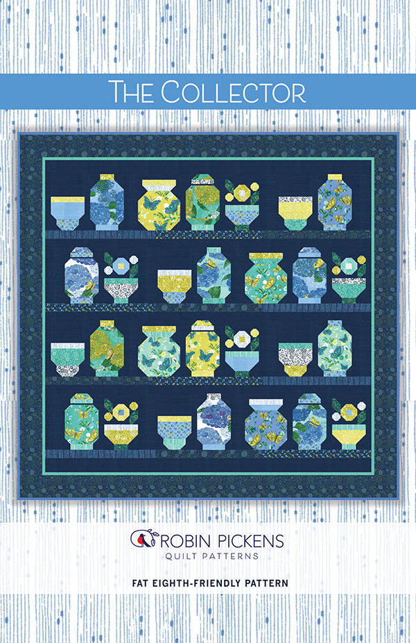 Cottage Bleu The Collector Pattern Fat eights friendly, 67 x 65, designed by Robin Pickens