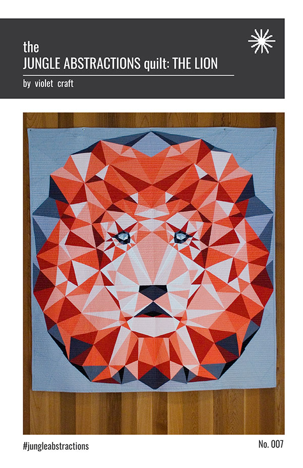 Jungle Abstractions Quilt/Lion