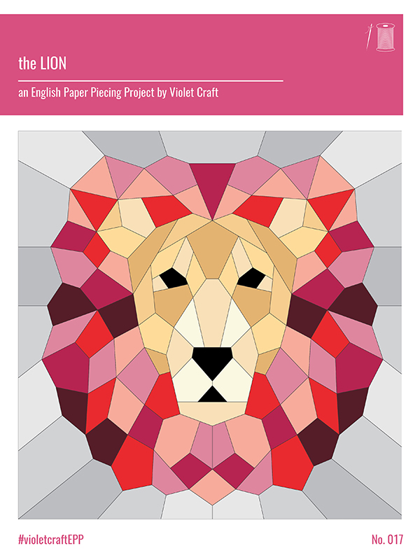 The Lion - English Paper Piecing (violet Craft)