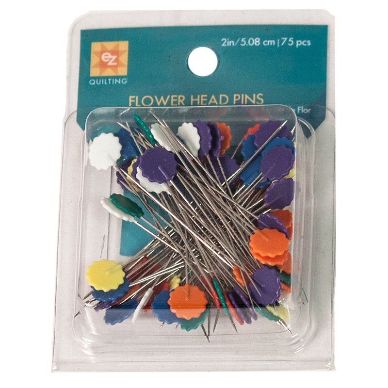 Flower Head Pins - 75 count