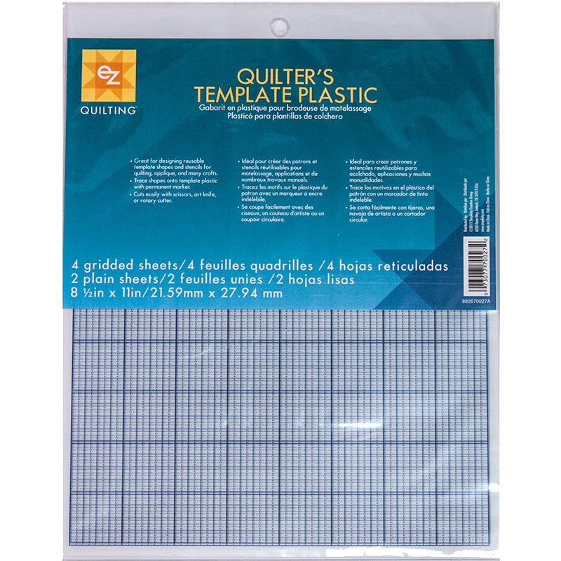 Quilters Template Plastic 6shts