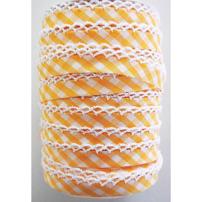 Crochet Edge DF Bias Check Yellow