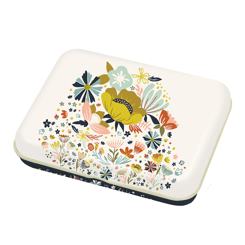 Small Floral Tin