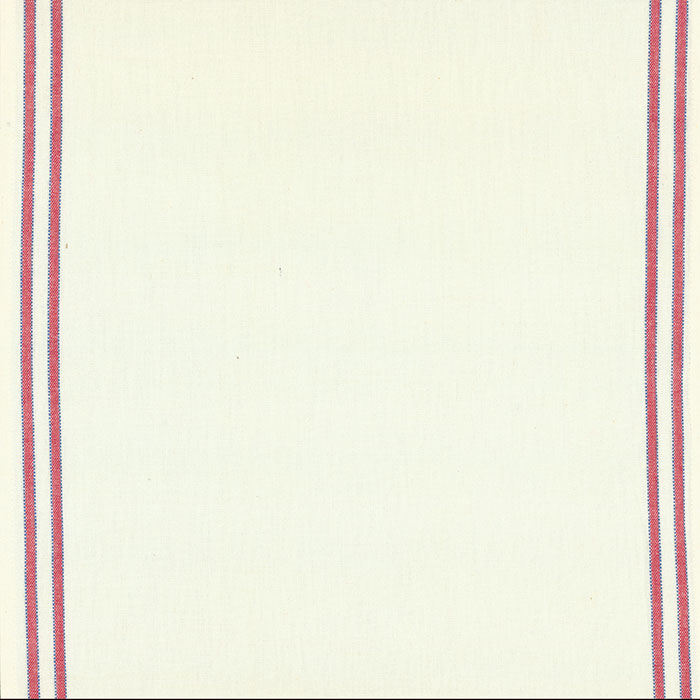 16 Toweling Border Red Blue