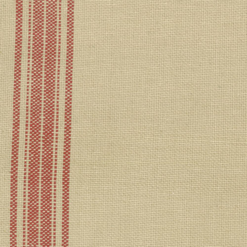 Toweling 16 Wide Tan with Red Borders
