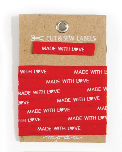 Made with Love Sew In Labels 3yd