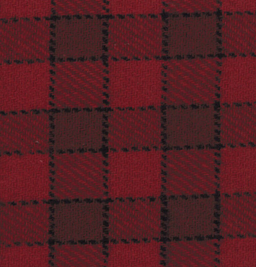 54 Independence Trail Red Wool Plaid