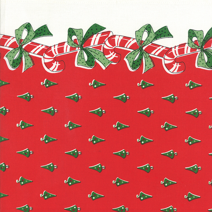 16 Toweling Candy Canes Red