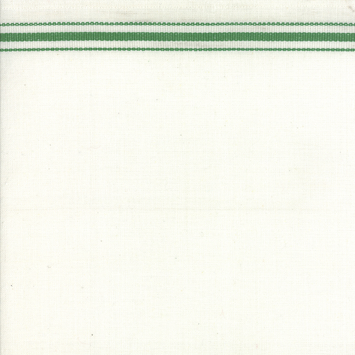 16 Toweling White Green