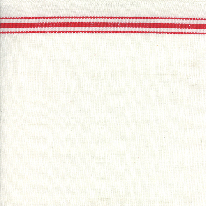 16 Toweling White Red