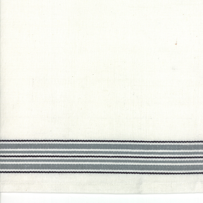 16 Toweling Rodeo Stripe White/Grey