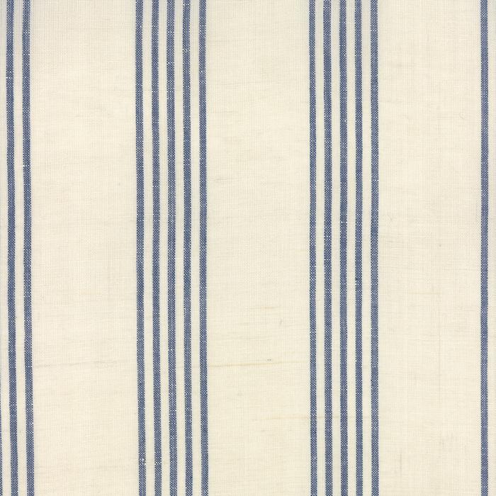 Linen Closet Fabric Cream Blue