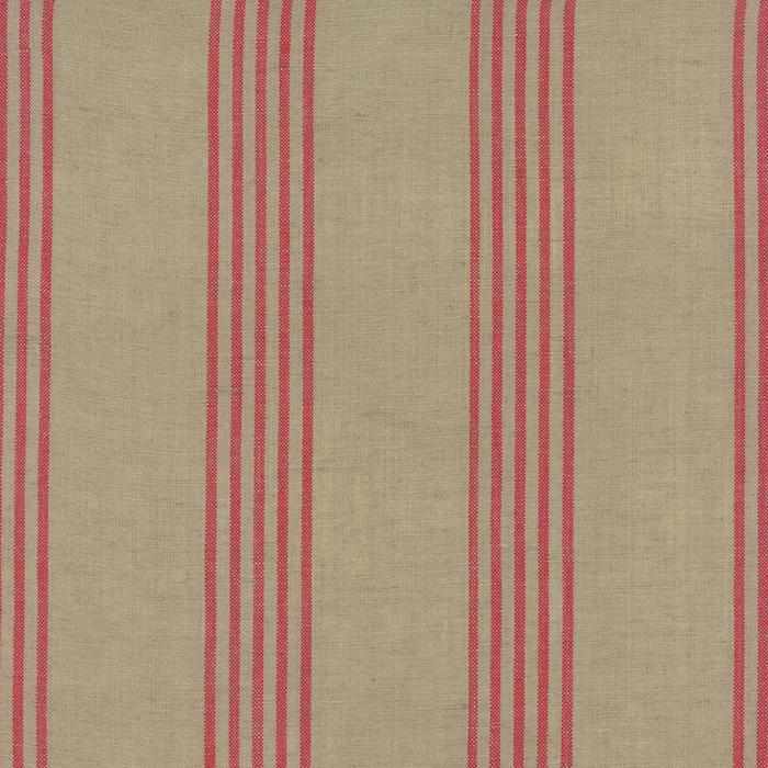 12133 230 Linen Closet Fabric Flax Red