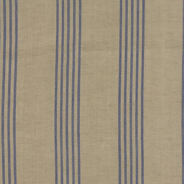 Linen Closet Fabric Flax Blue
