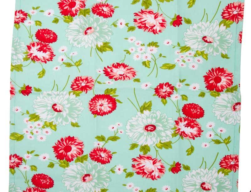 Toweling - The Good Life Aqua Flowers