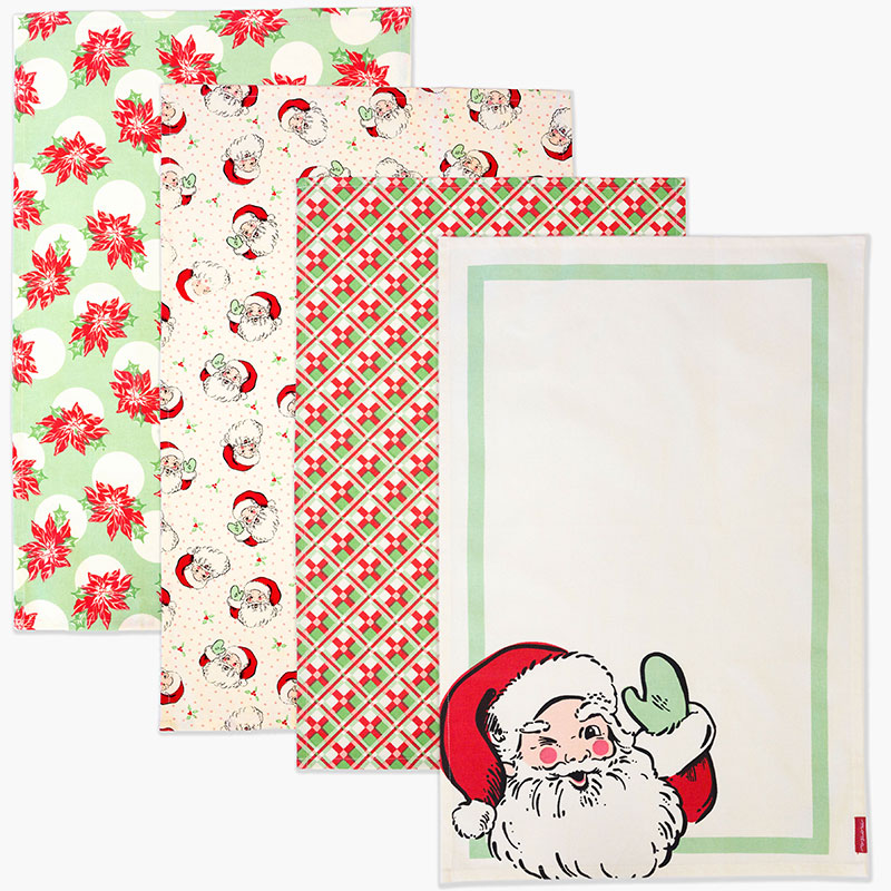 Swell Christmas Towels Set of 4