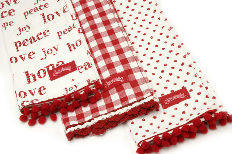 Overnight Delivery Towels Set 3 Hope Peace Joy
