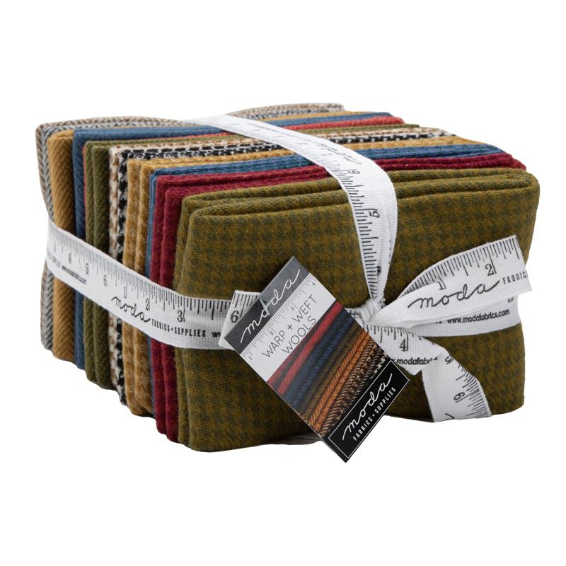 1/4 100% Wool Fat Quarter Bundle 12 Warms