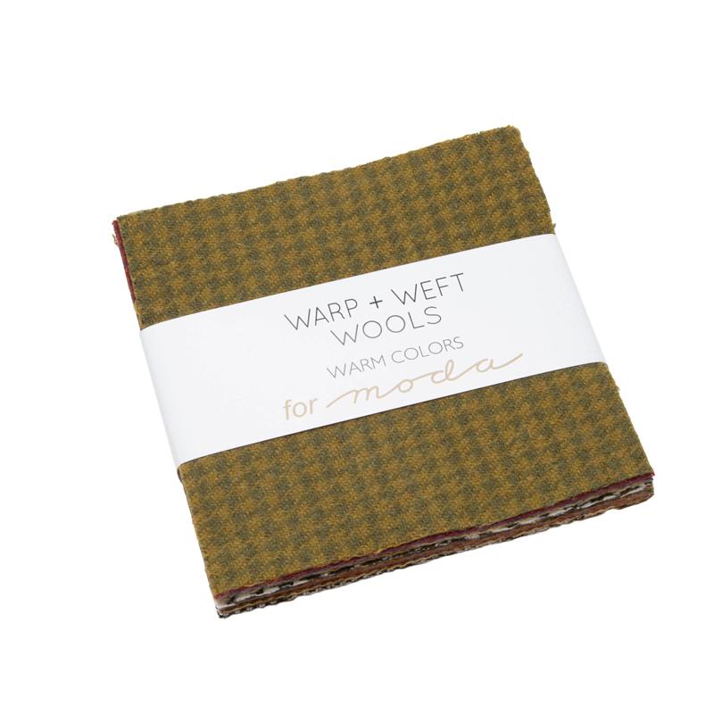100% Wool Charm Square 12 Warm