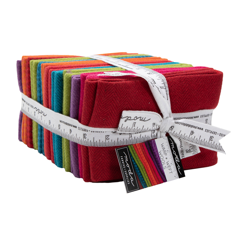 1/4 100% Wool Fat Quarter Bundle 12 Brights