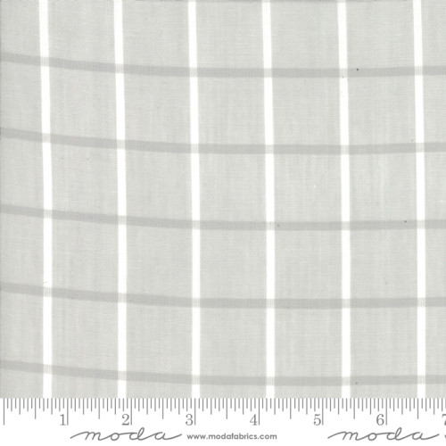 Bonnie Camille Windowpane Gray Woven
