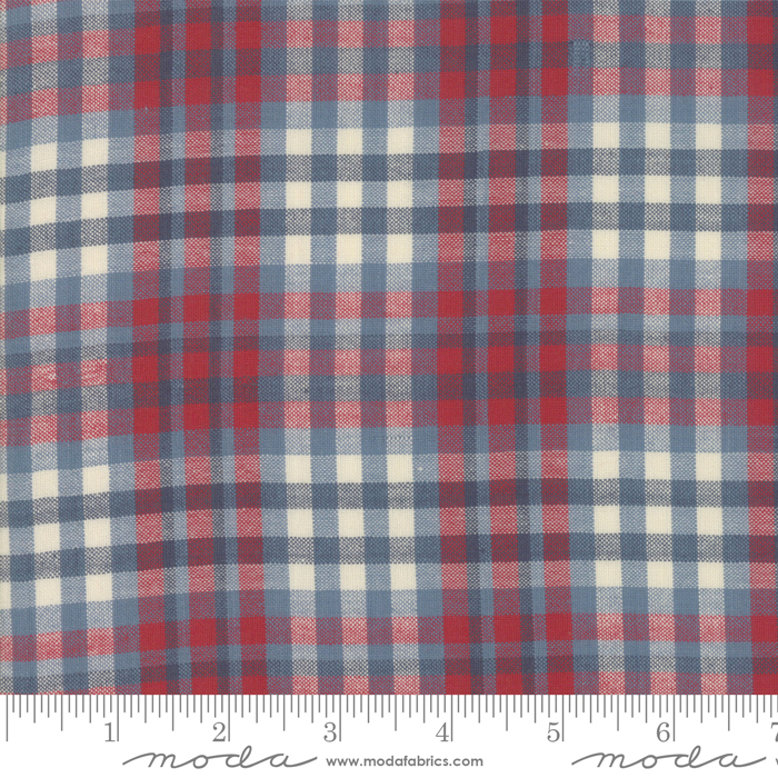 Northport Silky Plaid Blue Red