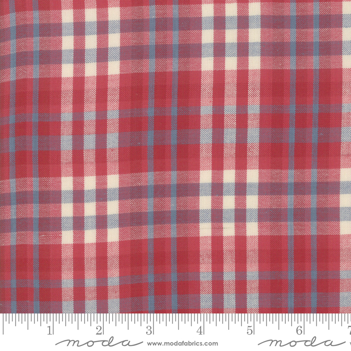 Northport Silky Plaid Red Blue 12215-32