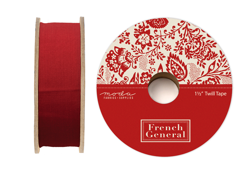 French General Twill Tape Red #2120 11